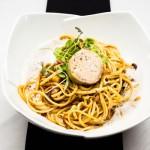 Linguinie au foie gras et espuma