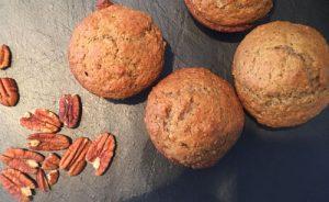 Muffins aux dattes, orange et chocolat
