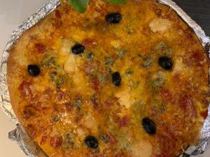 Pizza aux quatres fromages